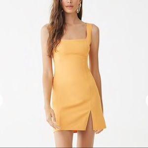 Tangerine Slit Dress